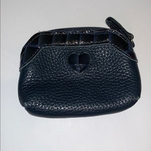 Brighton navy leather coin purse